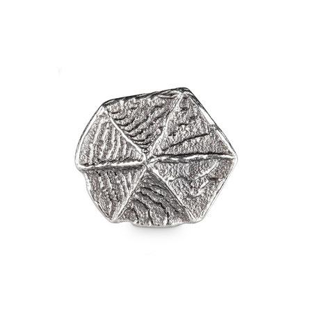 Bild: Sepia Guss Manschettenknöpfe Themis Sechseck handgearbeitet aus 925er geschwärztem Sterlingsilber