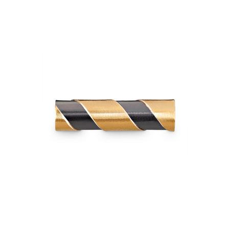 Bild: Handgearbeitete 925er Sterlingsilbermanschettenknopf Phoenix Stäbchen rund mit aufgelötetem Gold und geschwärztem Silber