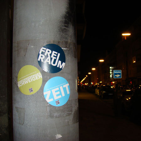 """Guerilla-Marketing"" der FreiRaum-Aktion"
