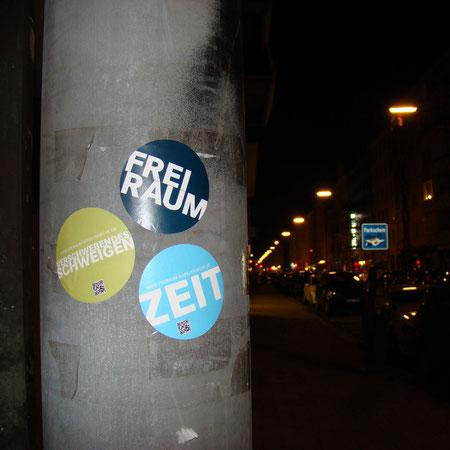 """""""Guerilla-Marketing"""" der FreiRaum-Aktion"""