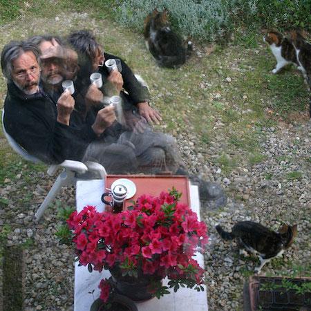 pause-café - mouvement d'une histoire - photographie sur dibond - 40x60 cm - 2014 - M.Pavlïn