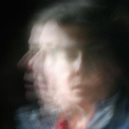Autoportrait, mouvement d'un visage - photographie sur dibond - 40x60 cm - 2014 - M.Pavlïn