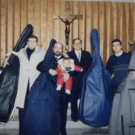 A very young Bass Sonority : Vito, maestro Cellaro, maestro Chiapperini, Maestro Leonardo Presicci. And the very young DONATO, my maestro's son.