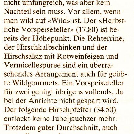 2012 Winterthurer Zeitung .. ein Abend ganz in Grün ..