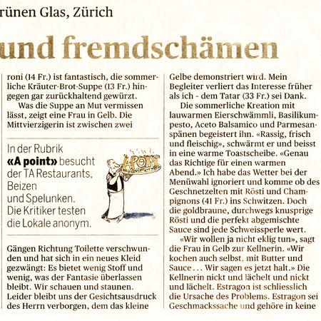 2016 Tagesanzeiger ..Geniessen und fremdschämen..