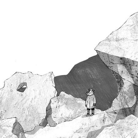 """Illustration für """"Kampf im ewigen Eis"""", Abenteuer eines Inuitjungen für Kinder ab 8 Jahren, Thienemann Verlag GmbH"""