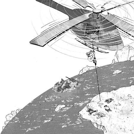 """Illustration für """"Verschollen im ewigen Eis"""", Abenteuer eines Inuitjungen für Kinder ab 8 Jahren, Thienemann Verlag GmbH"""
