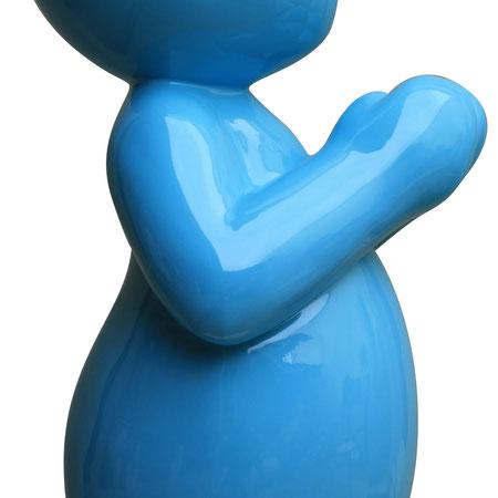 Pray4us N°5/8 - Turquoise - 60 cm de hauteur x 26 cm de largeur - Matériaux composites - DISPONIBLE
