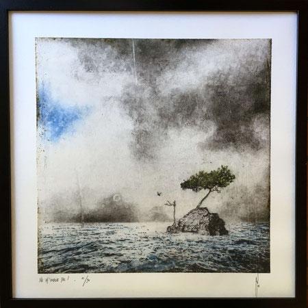 """Antoine Josse - """"Ne m'oublie pas"""" - Réf. 264 - Numérigraphie - Tirage en série limitée, numéroté 4/30, et signé de la main de l'artiste sur papier beaux arts. Encadrement baguette métal noir et sous-plexi - 270€ ou 200€ sans encadrement."""