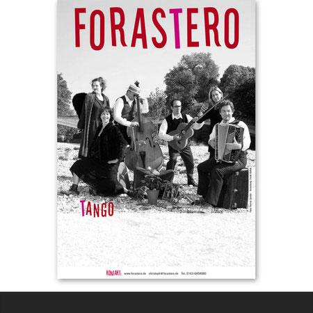 »Forastero« Plakat für eine Tango-Band