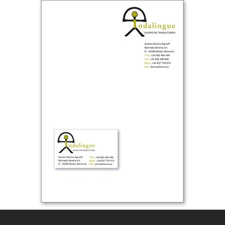 »Indalingue« Geschäftsausstattung