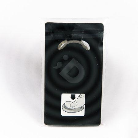Schlüsselanhänger mit Einkaufswagen Chip mit Display und Tütchen