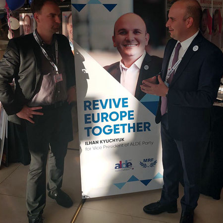 MEP Ilhan Kyuchyuk and Dietmar Pichler at The 40th ALDE Party Congress in Athens