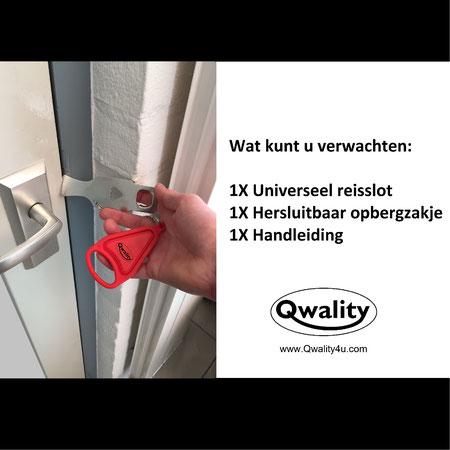 Reis slot universeel slot Reisslot deurslot vakantieslot vakantie Qwality4u