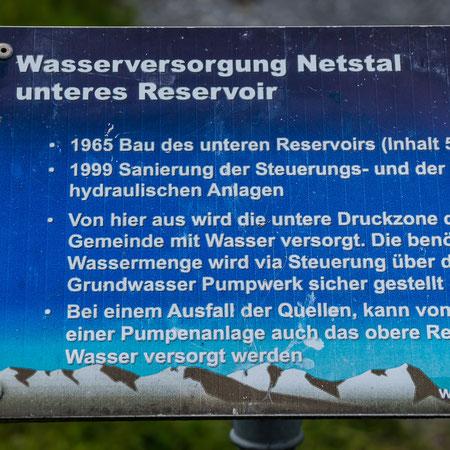 unteres Wasserreservoir Rütigasse Infotafel