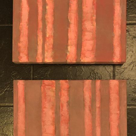 "Bilder in Acryl auf Leinwand ""pinky bars""  |  je 30x40 cm  |  CHF 70.00 (2er-Set)"