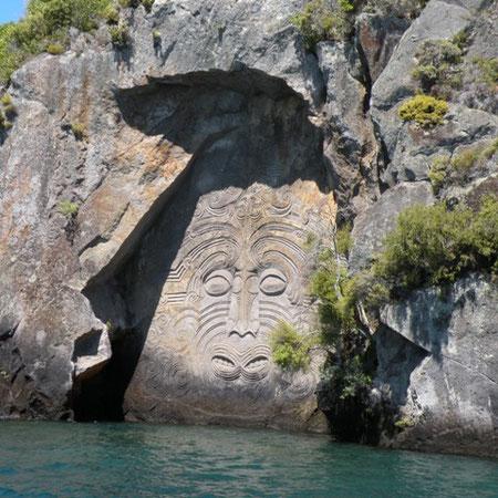 Felszeichnungen der Maori