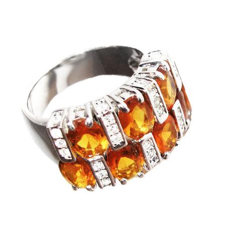 Wunderschöner, breiter, funkelnder Ring Modeschmuck-Steinchen.