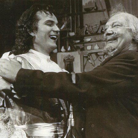 Erste Rolle am Schauspielhaus Zürich als Tom ind Tugend in Gefahr von John Vanbrugh mit Gustav Knuth