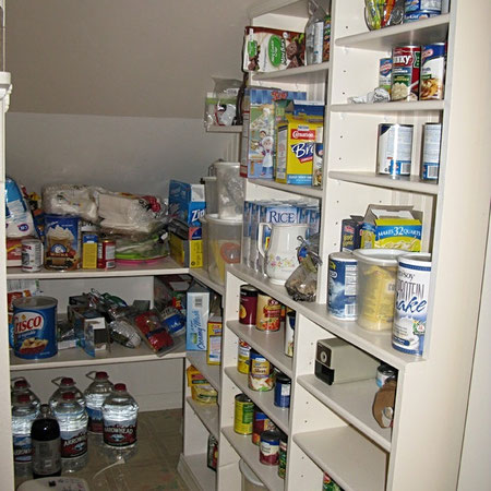 Pantry in Need of Organization