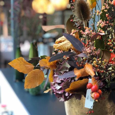 Herbstdekoration Elfenau Park Bern