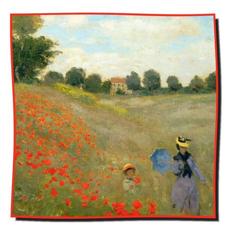 Artikel Nr. 1077 Mohnblumen - Monet (100 x 100 cm)