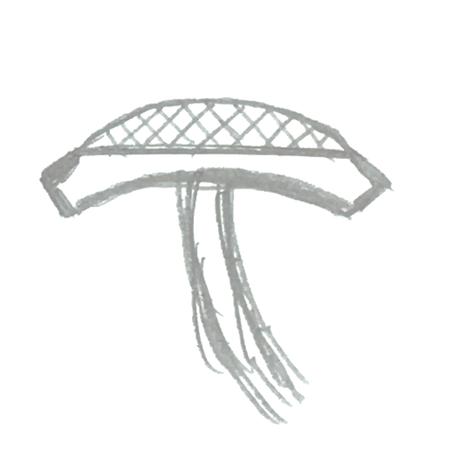 Skizze eines Manschettenknopfes