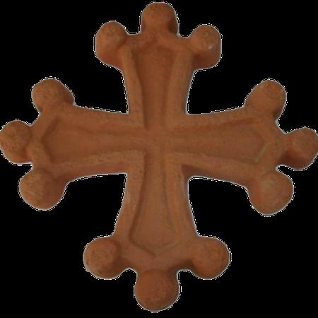 Croix occitane aspect vieilli diamètre 22