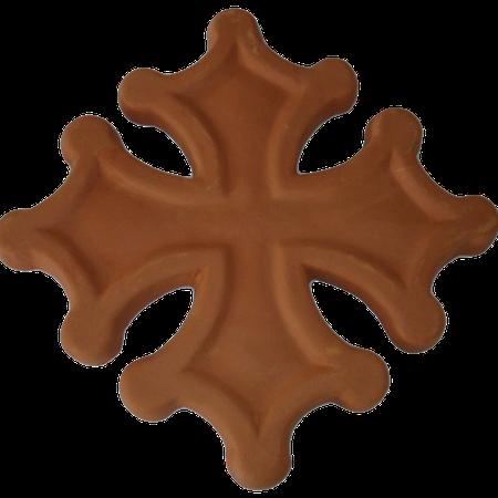 Croix occitane sans boules semi évidée diamètre 24
