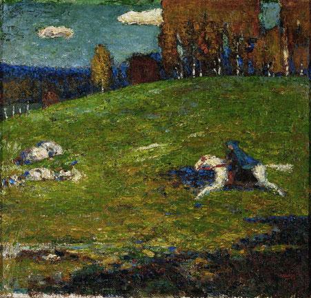 ワシリー・カンディンスキー《青騎士》1903年