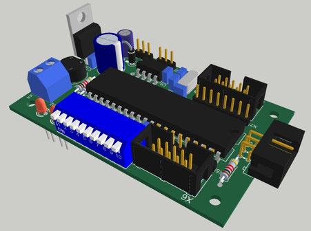 DMX Unicontrol - Bild erstellt mit dem Sketchup Plugin von Eagle