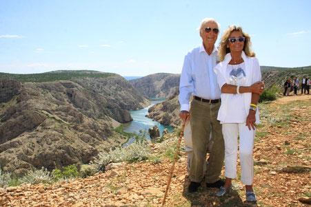 Martin Böttcher war wenige Tage vor seinem 89. Geburtstag zum ersten Mal in Kroatien – und beeindruckt von der Landschaft.