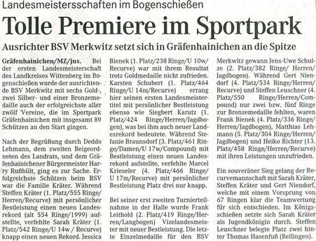 BSV Merkwitz 1997 aus Bad Schmiedeberg als Ausrichter bei der LM FITA im Sportpark Gräfenhainichen