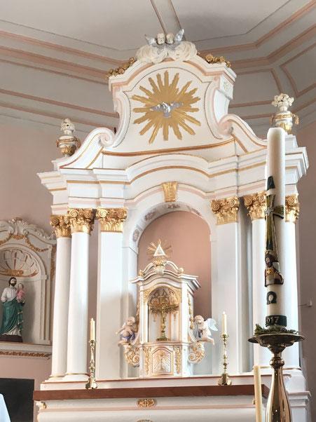 L'autel après rénovation