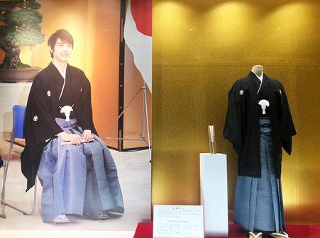 羽生結弦選手が着用した「仙臺平」の袴を展示いたします!