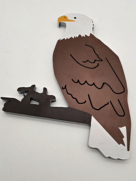 MDF laser cutting and UV printing with white painting