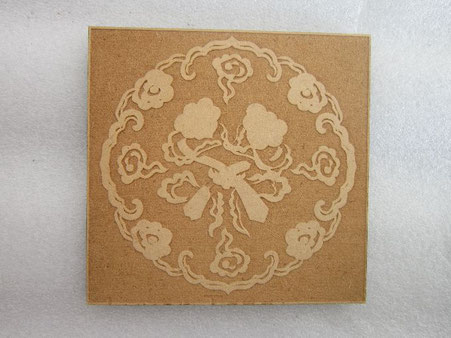 laser cutting and etching MDF design