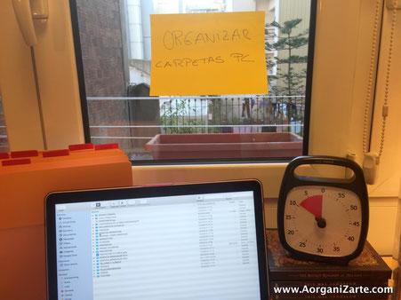 ponte un límite suficiente de tiempo para centrarte en terminar las tareas pendientes - AorganiZarte.com