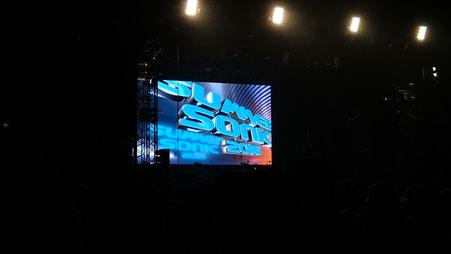 開演前のSONICステージ。ライブ中は撮影禁止なので・・・_| ̄|○