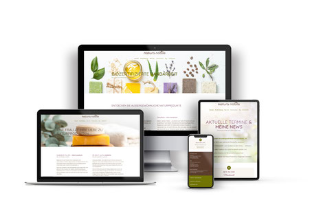 Natura nobile Webdesign + Onlineshop mit Wordpress Enfold
