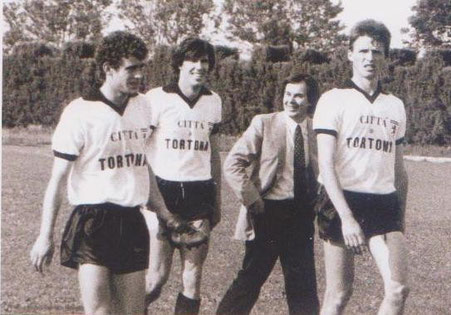 1984-85 Serie C2 (da sx) Signoroni, Gabbana, Berago e Ravazzolo