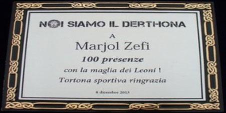 Targa a Marjol Zefi