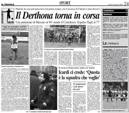 2003-04 CASTELLAZZO BORMIDA - DERTHONA 0-1