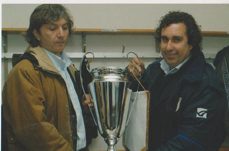 2003-04 Eccellenza Coppa Italia Presidente Valsorda e allenatore Icardi