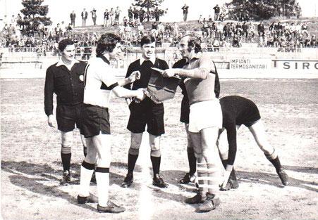 1972-73 Amichevole con la Sampdoria - Nordio e Lodetti