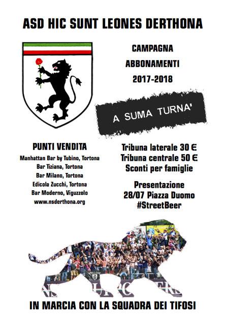 CAMPAGNA ABBONAMENTI HSL DERTHONA 2017-18
