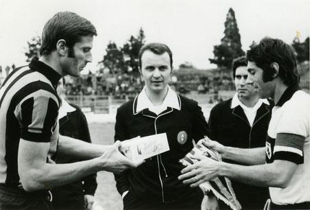 1972-73 Amichevole con l'Inter - Facchetti e Nordio