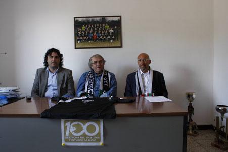 2009-10 Serie D Presentazione dell'allenatore Diliberto con Musumeci e Massano
