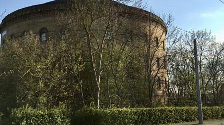 Panometer Leipzig - Ansicht von der Straße