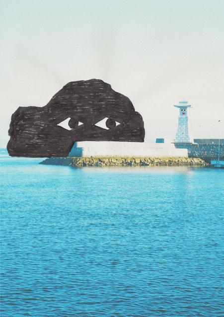 Umibouzu(Japanese sea monster) Picrurebook by Japanese artist Takashi Miyata ミヤタタカシ